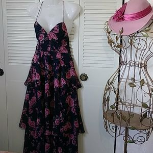 Fame and Partners Floral Dress with slits SIZE 2